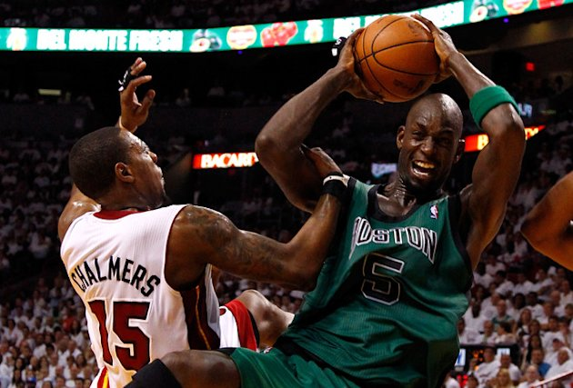 Kevin Garnett #5 Of The Boston Celtics Controls Getty Images