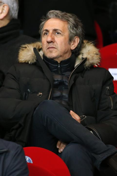Actor Richard Anconina attends the French Ligue 1 soccer match between Paris St Germain and St Etienne at the Parc des Princes Stadium in Paris