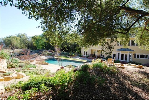 John Krasinski and Emily Blunt's new Ojai home pool from distance