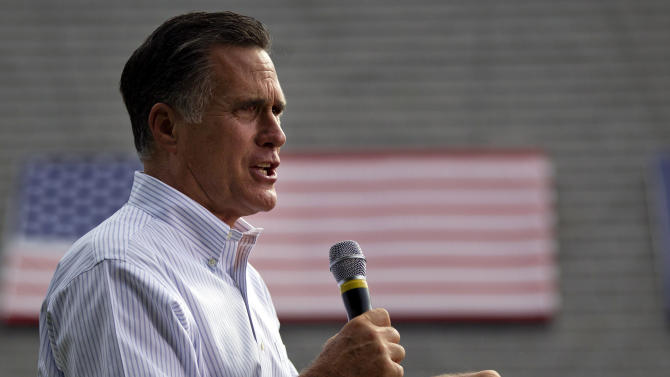 Republican presidential candidate, former Massachusetts Gov. Mitt Romney speaks during a campaign at Cornwall Iron Furnace on Saturday, June 16, 2012, in Cornwall, Pa. (AP Photo/Evan Vucci)