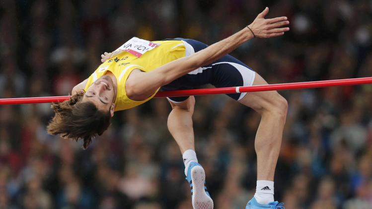 Ioannou of Cyprus competes in the Men's High Jump final at the 2014 Commonwealth Games in Glasgow