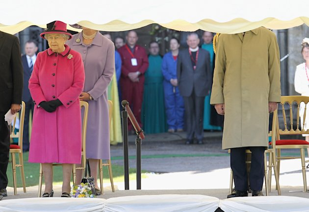 Queen Elizabeth II Accompanied By The Duke Of Edinburgh Visits The South West
