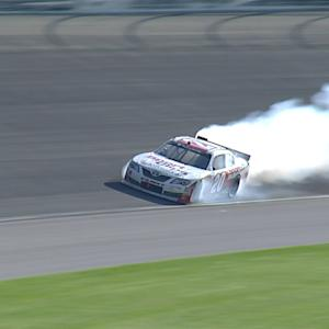 Hamlin's hopes go up in smoke