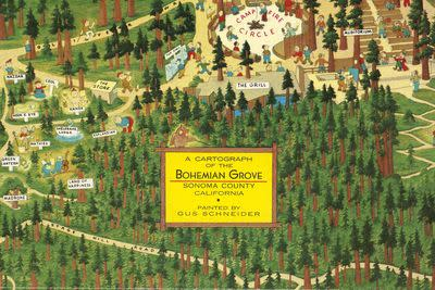 A map of Bohemian Grove, the place where masters of the universe play summer camp