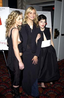Premiere: Christina Applegate, Cameron Diaz and Selma Blair at the New York premiere of Columbia's The Sweetest Thing - 4/8/2002 