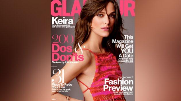 Keira Knigthley on the cover of Glamour's July 2014 issue -- Tom Munro/Glamour