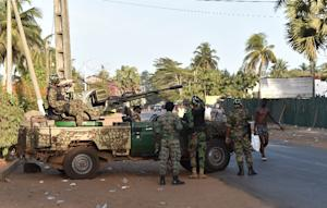 Ivory Coast's armed forces take position after…