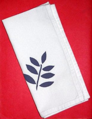 Custom-decorated cloth napkins