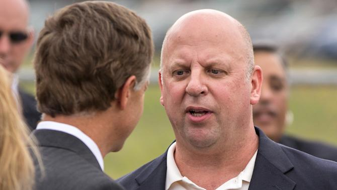 In this May 3, 2012, photo, U.S. Rep. Scott DesJarlais, right, speaks with Gov. Bill Haslam at a groundbreaking event at Middle Tennessee State University in Murfreesboro, Tenn. The freshman Republican raised $28,310 in the first reporting period since a transcript emerged of DesJarlais urging a woman to seek an abortion more than 12 years ago. (AP Photo/Erik Schelzig)