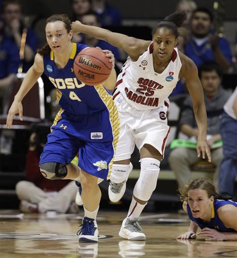 South Carolina races past South Dakota St. 74-52