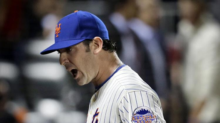 New York Mets starting pitcher Matt Harvey reacts after striking out Chicago White Sox's Alejandro De Aza in the ninth inning of of a baseball game at Citi Field Tuesday, May 7, 2013 in New York. (AP Photo/Seth Wenig)