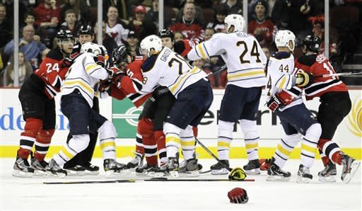 Sykora's 2 goals lead Devils over Sabres 3-1