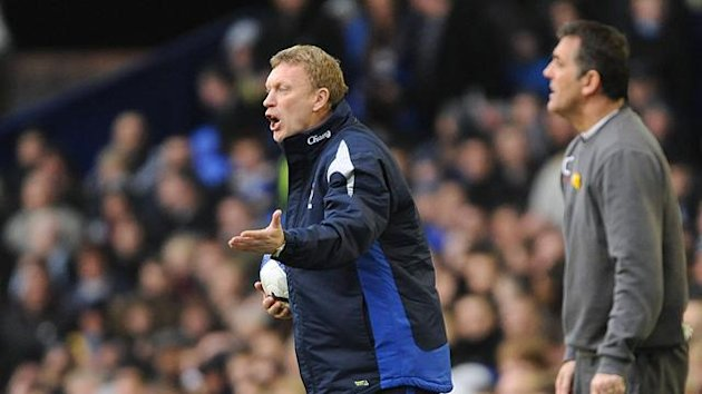 2009-2010 Everton-Bolton David Moyes Owen Coyle