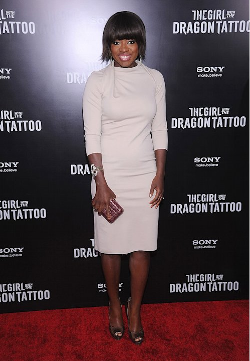 The Girl with the Dragon Tattoo NY Premiere Viola Davis