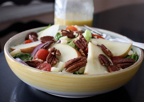 Apple, Nuts, and Cheese Salad