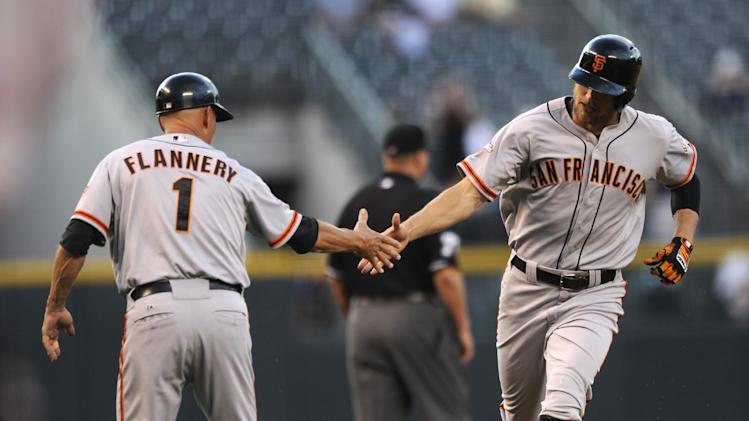 Pence, Sandoval help Giants beat Rockies 5-3