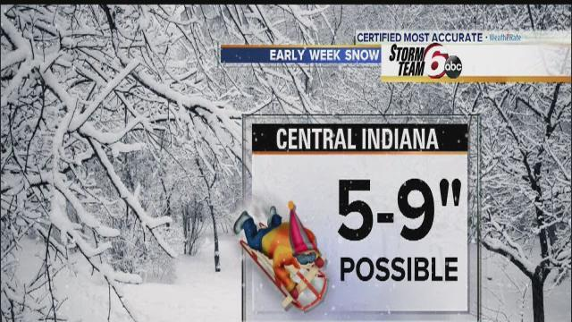 Winter storm targets Indiana