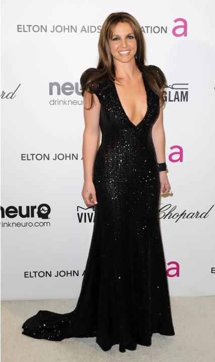 Singer Spears arrives at the 2013 Elton John AIDS Foundation Oscar Party in West Hollywood