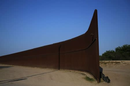 File photo of border fence at the United States-Mexico border outside of Brownsville, Texas