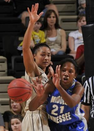 Vanderbilt women down rival Middle Tennessee