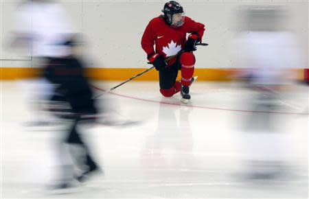 ice hockey team practice ahead of the 2014 sochi winter olympics