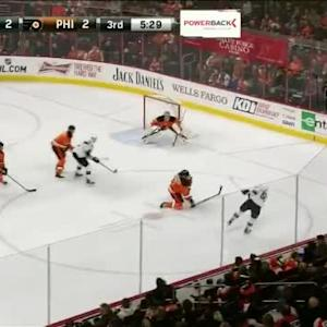 Steve Mason Save on Tommy Wingels (14:33/3rd)