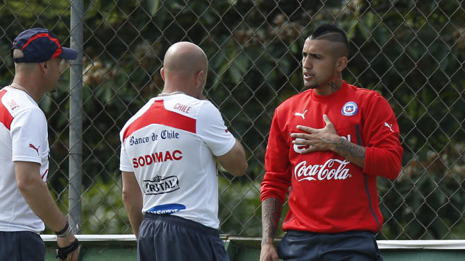 Chile's Arturo Vidal: I'm fit to face the Dutch