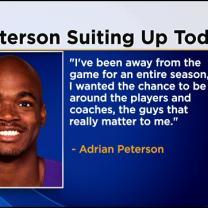 Vikings Confirm Peterson Returning To Practice With Team