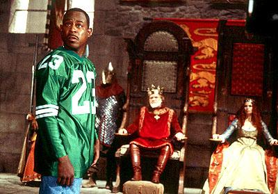 Martin Lawrence as Jamal, a fast-talking con-man who finds himself about to make a strong impression on King Leo ( Kevin Conway ) and Princess Regina ( Jeannette Weegar ) in 20th Century Fox's Black Knight