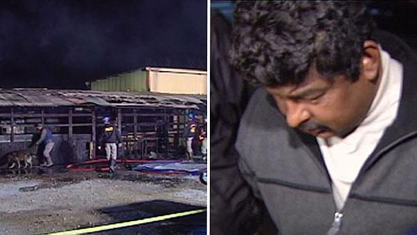 Arrest made in arson fire at feed store that killed animals