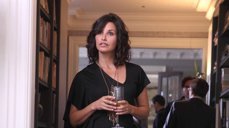 "Gina Gershon in ""How to Make It in America."""