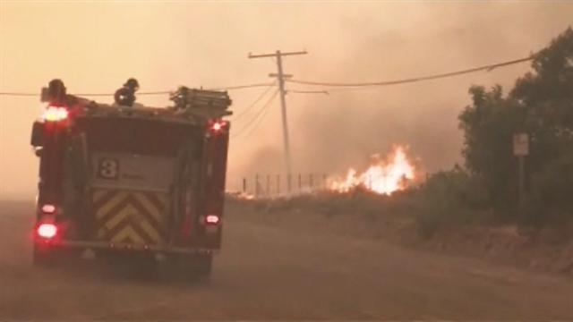 California wildfire jumps Pacific Coast Highway