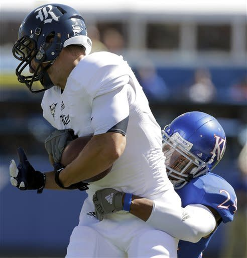 Last-second FG lifts Rice past Kansas 25-24