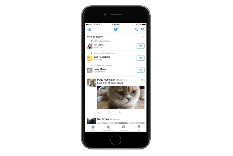 Twitter adds 'who to follow' recommendations to timeline on Android and iOS