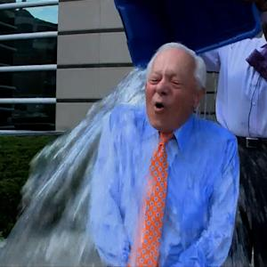 CBS News' Bob Schieffer takes the ice-bucket challenge
