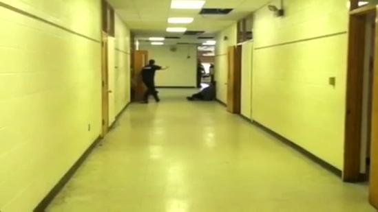 Police take part in simulated school shooting drill