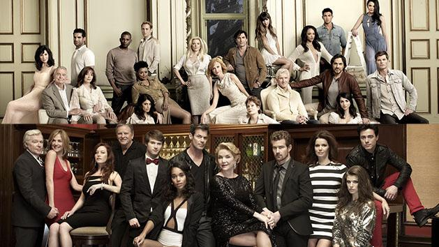 "The casts of ""All My Children"" and ""One Live To Live"""