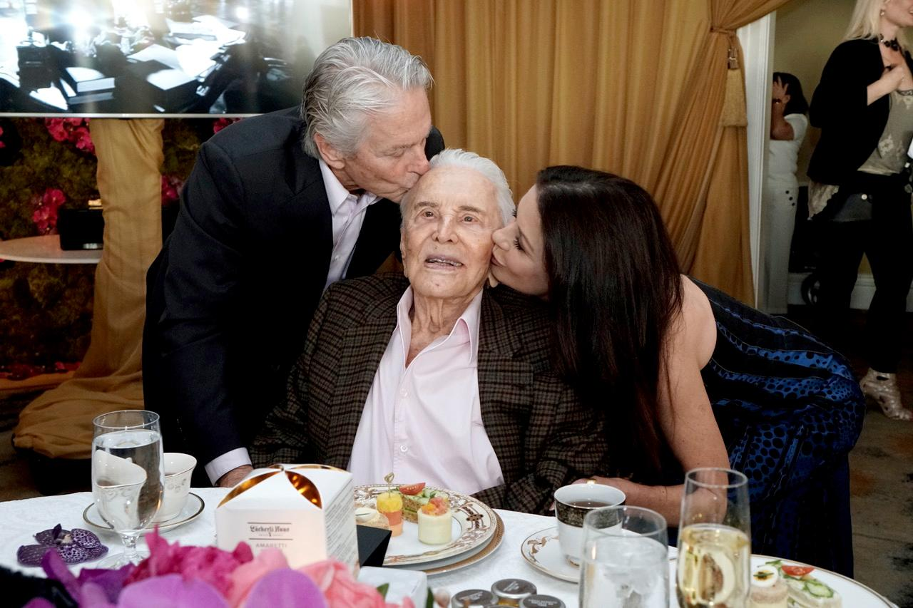 Kirk Douglas Celebrates 100 with a Star-Studded Birthday Party (and a Little Vodka)