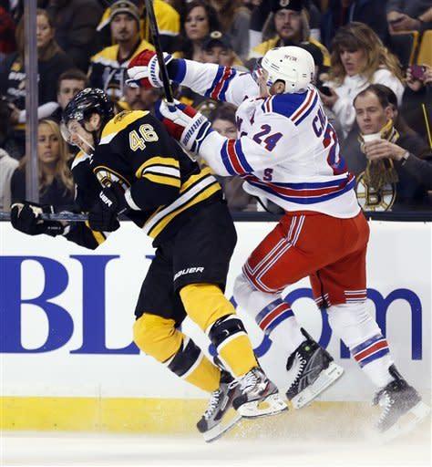 Bruins win lockout-delayed opener over Rangers 3-1
