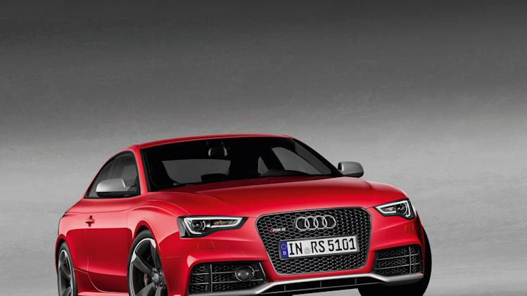 This photo provided by Audi shows the Audi RS 5. Sold in Europe for a few years, the highest-performance versions of the Audi A5 started to arrive on U.S. soil for the first time this model year. (AP Photo/Audi)