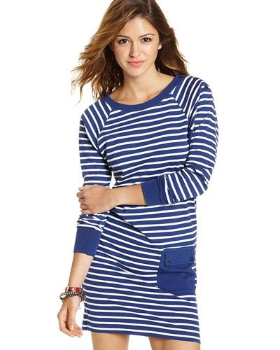 Long-Sleeved Striped Raglan