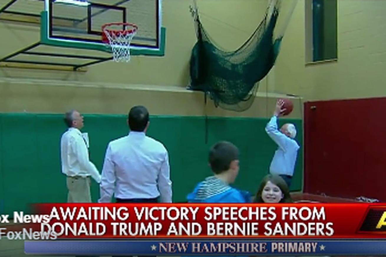 If Bernie Sanders' political strategy is as good as his mid-range jumper, he's going to be president