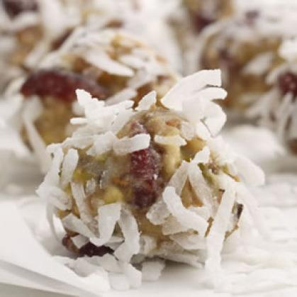 These decadent-looking fruit and nut balls are actually a nutritious nibble in disguise.