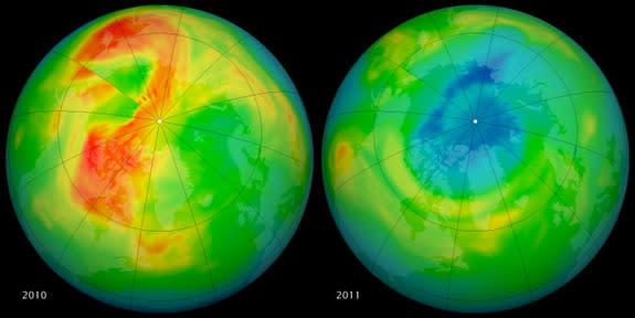 Cause of Odd Arctic Ozone 'Hole' Found