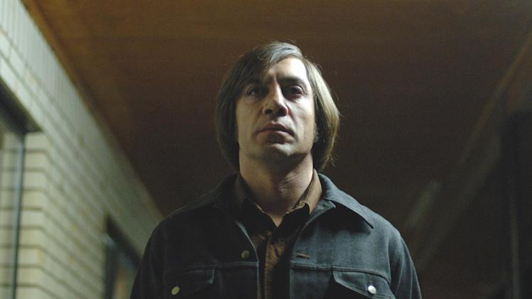 "FILE - This undated publicity file photo released by Miramax shows actor Javier Bardem as Anton Chigurh in a scene from ""No Country for Old Men.""  (AP Photo/Miramax Films, Richard Foreman, File)"