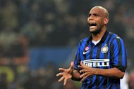 Inter Milan said they are willing to let Maicon, pictured in February 2012, leave for Manchester City, as reports continued to claim the clubs are negotiating a transfer fee for the highly-rated Brazilian defender