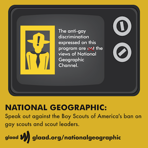 GLAAD Protests Nat Geo's Collaboration With Boy Scouts