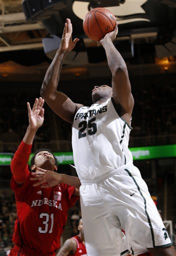 Nix-led No. 22 Michigan State beats Nebraska 66-56