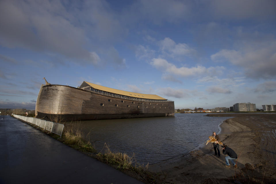 Dutchman launches life-sized replica of Noah's Ark