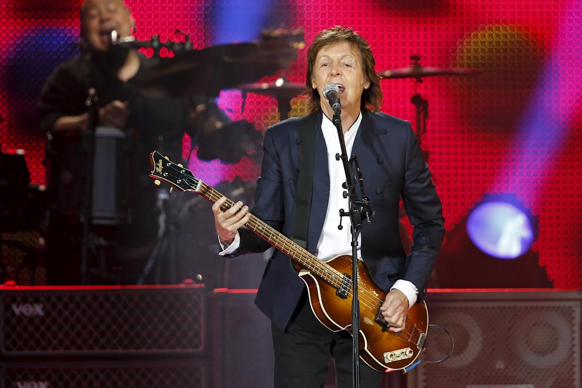 Paul McCartney performs at the Stade de France, in Saint-Denis, near Paris